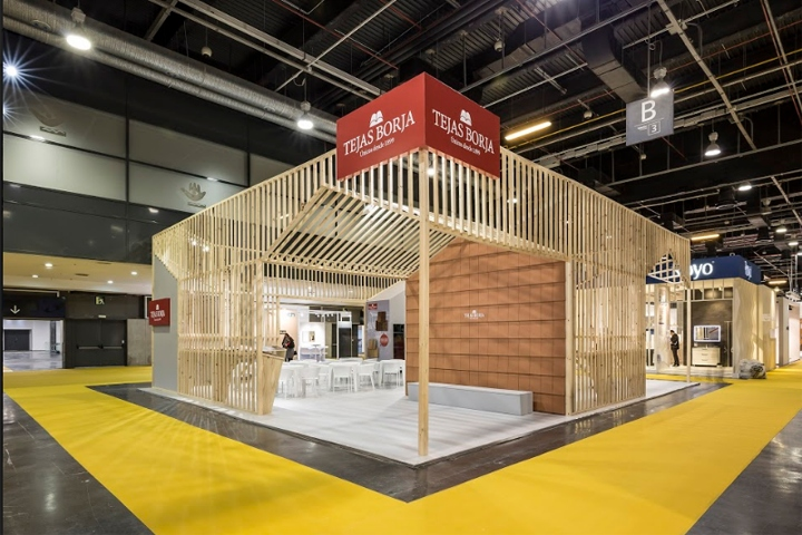 Expo Stands Trade Fair 2017 : Tejas borja stand at cevisama valencia spain