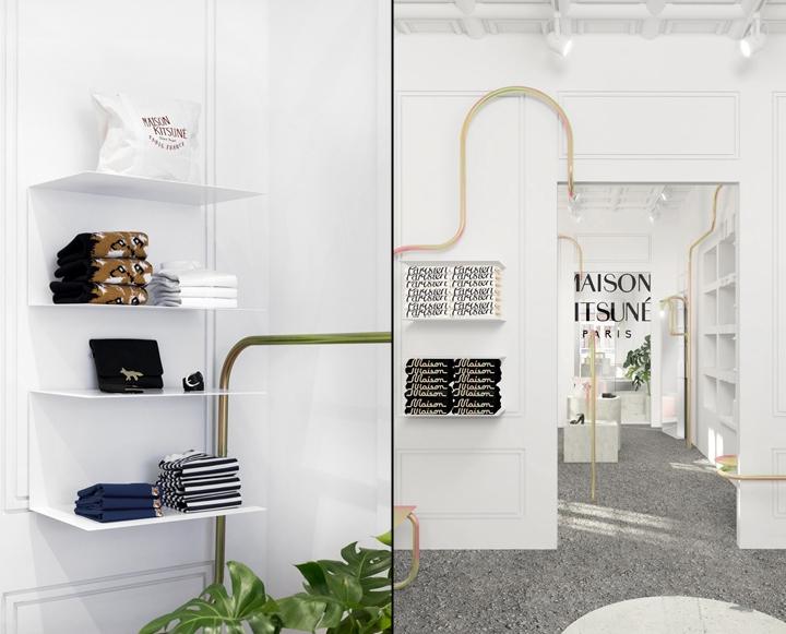 Maison kitsuné store by mathieu lehanneur new york