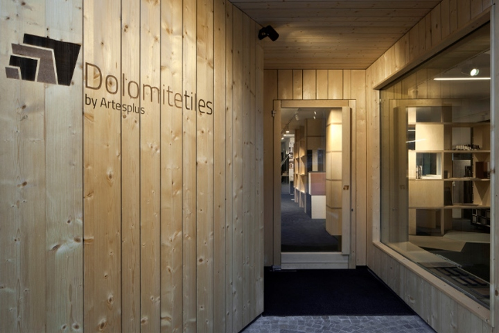 And the production plants are the background of the renovation project of the building which houses dolomite tiles new showroom in cermes near merano