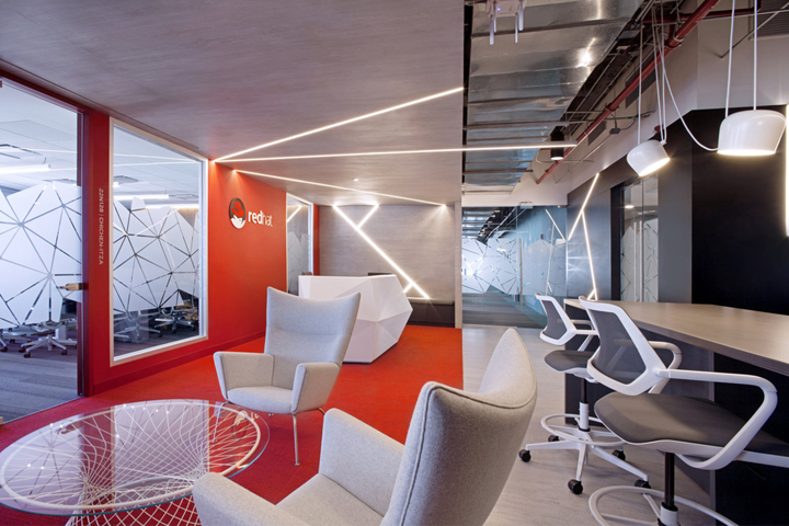 Red hat offices by aei arquitectura e interiores mexico for Arquitectura design interiores