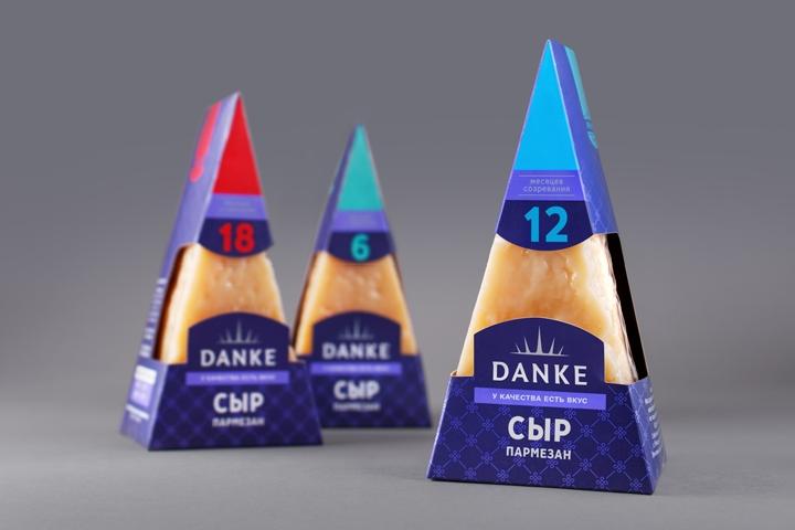 Danke Dairy Products packaging by AIDA PIONEER Branding