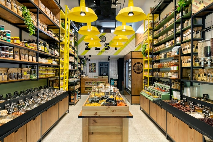 Exceptional The Design Concept Of The Store Reflects, Through Materiality And  Colorfulness, The Division Into The Various Departments. There Is A  Combination Of Iron In ...