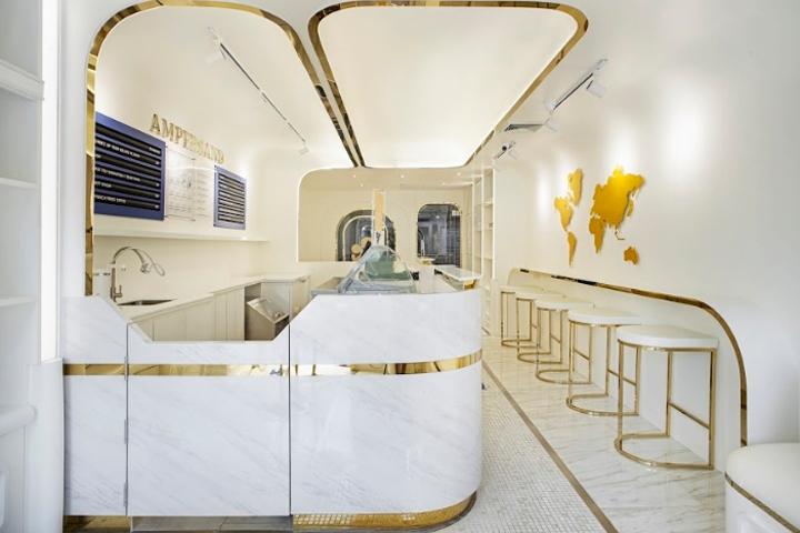 空间设计|Ampersand冰淇淋店面设计