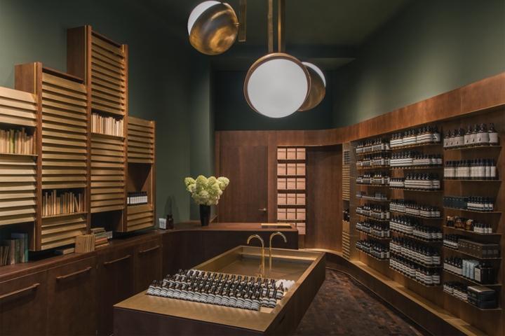 Aesop store vienna austria for Interior design osterreich