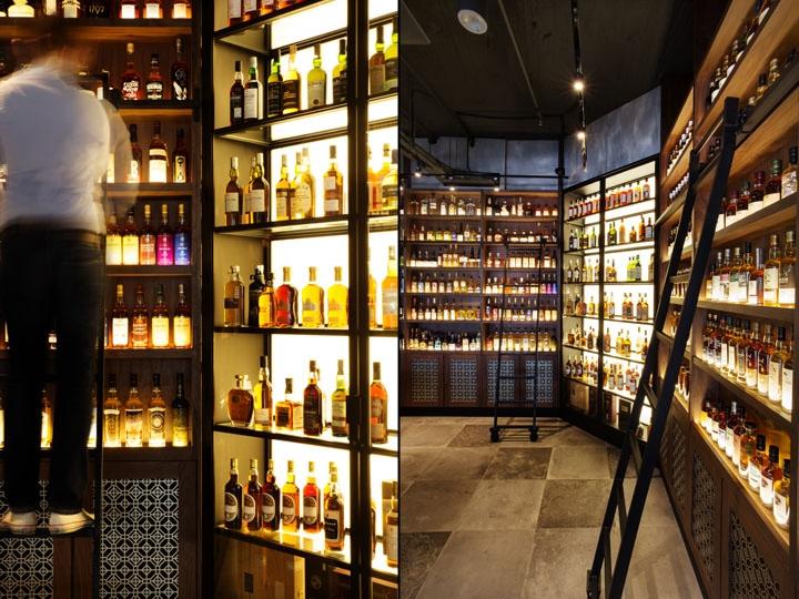 la maison du whisky by ielo design singapore. Black Bedroom Furniture Sets. Home Design Ideas