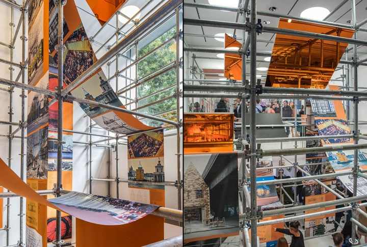 Construction Scaffolding Design : Scaffolding exhibition by oma new york retail design