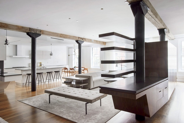 walnut furniture by office of architecture tribeca new york