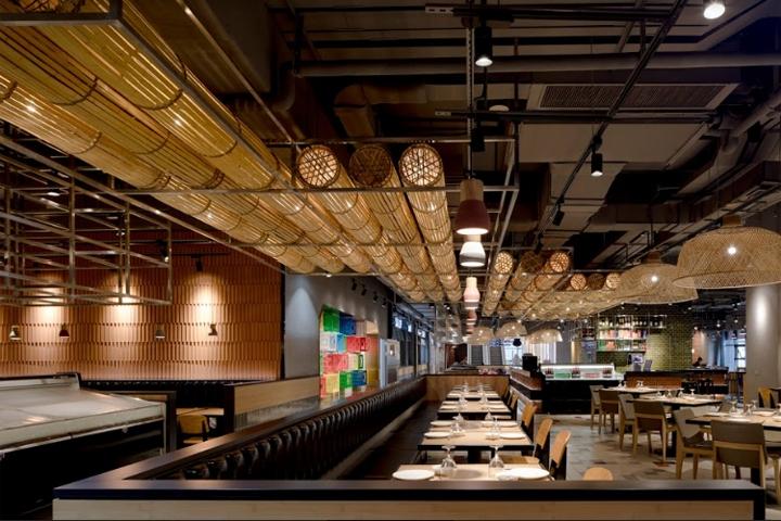 Hema restaurant by the swimming pool studio shanghai for Fish market design ideas