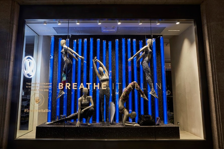 "1dbc7d2433e2 ""Breathe it all in"" shopwindow for Lululemon by Lucky Fox"