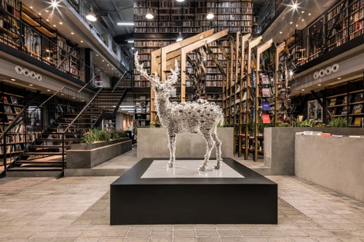 Hauser & Wirth Pop-up Bookshop by dongqi Architects