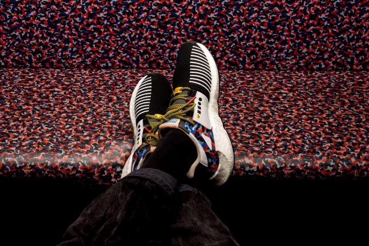 f76d15f5f7a The limited-edition collection of 500 pairs sees the classic model updated  in a black mesh canvas with white leather inserts, with the subway-seat  print ...