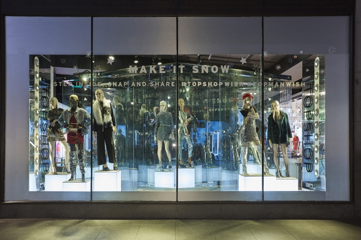 "acc6c9d5d8 Make it Snow"" window installation for Topshop by Lucky Fox"