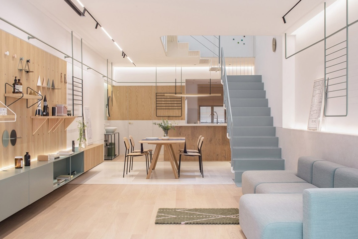 design modular furniture home. A 1940s House In Shanghai Has Been Reconfigured By RIGI Design To Create Light-filled Family Home With Steel Staircase, Adaptable Modular Furniture And I