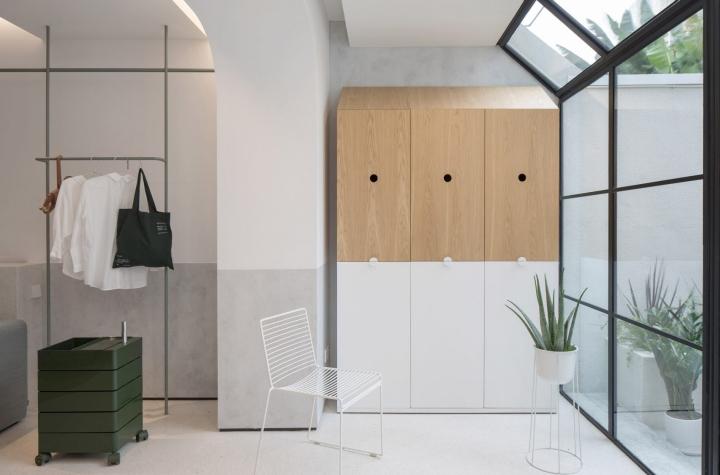 Https://www.dezeen.com/2018/01/07/shanghai House Rigi Design  Kai Liu Adaptable Modular Furniture White House Shaped Design  Steel Staircase Plants China/