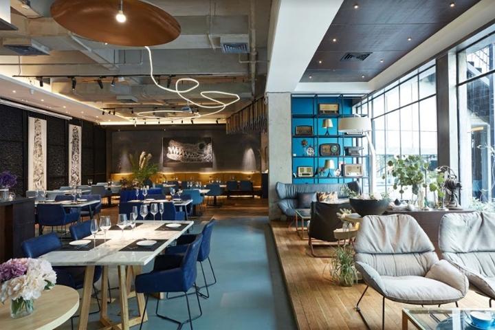 kleine zimmerrenovierung food design banquette, reading food and slow living restaurant by xyi design, nanning – china, Innenarchitektur