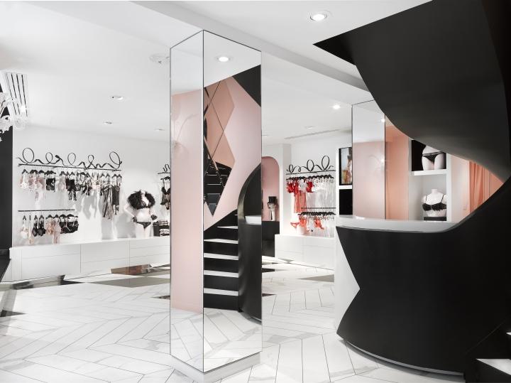 chantal thomass shop by centdegr s paris france retail design blog. Black Bedroom Furniture Sets. Home Design Ideas