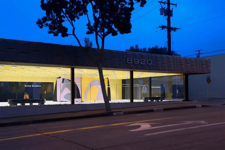 acne studios store los angeles california retail. Black Bedroom Furniture Sets. Home Design Ideas