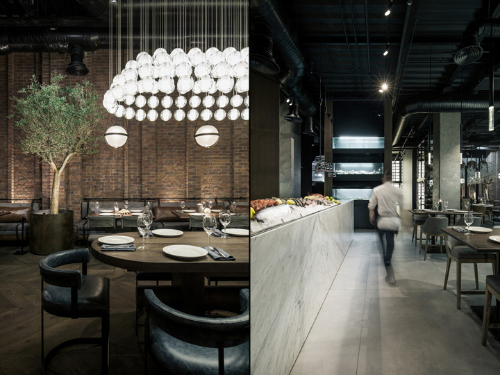 Catch Fish Restaurant By Yodezeen Studio Kiev Ukraine