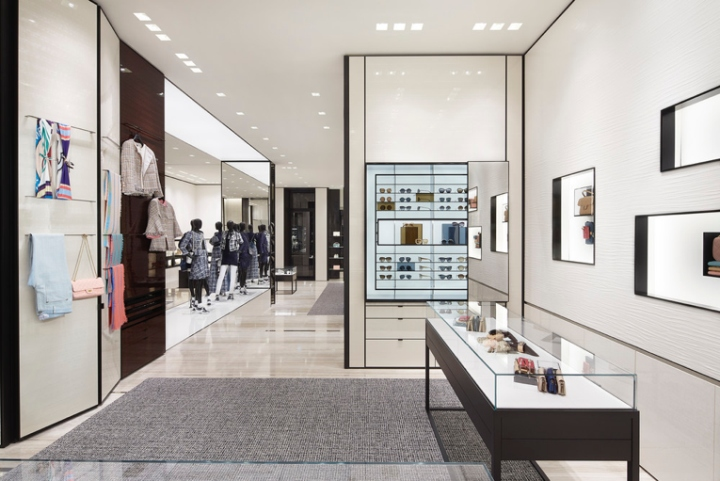 Chanel boutique by peter marino amsterdam netherlands Interior design shops amsterdam