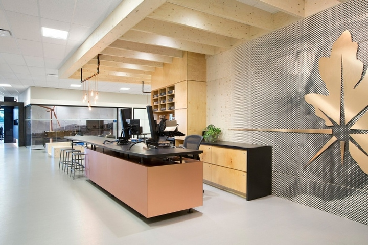 from dams to power lines pipelines to refineries connection from one infrastructure point to another drove the design of copperleafs office - Interior Design Blogs Canada