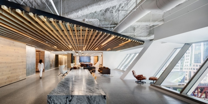 Hyatt headquarters by gensler chicago illinois - Commercial interior design chicago ...