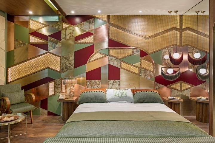 Retro hotel room at hotel design show exhibition by for Retro design hotel