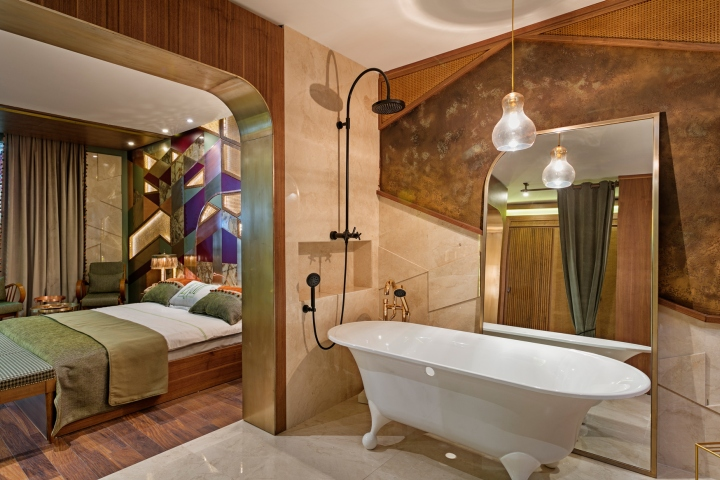 Retro Hotel Room At Hotel Design Show Exhibition By