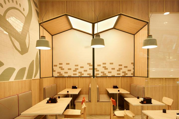 泰国曼谷Yoshinoya吉野家餐厅设计