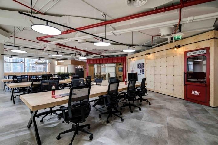 Bureau style architecte open space clram design architecture