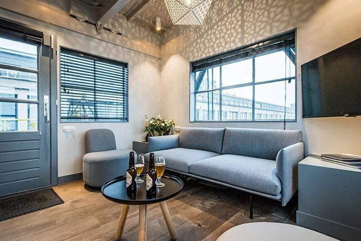 Modern loft apartment interior design in de pijp amsterdam by i