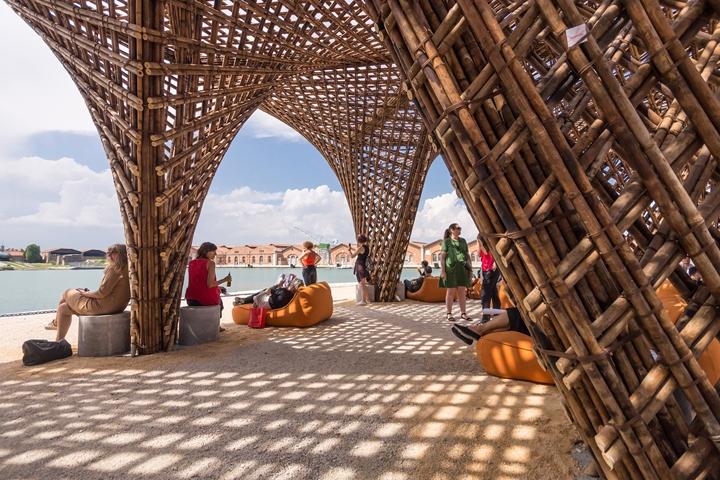 Bamboo Stalactite By Vtn Architects Venice Italy