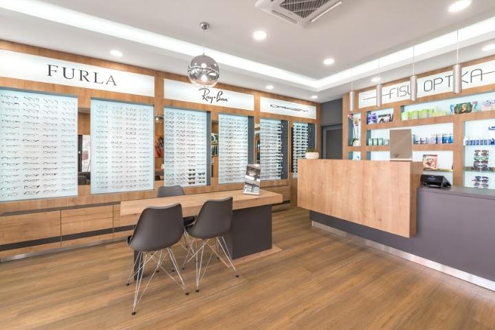 匈牙利Fisli optika眼镜店设计