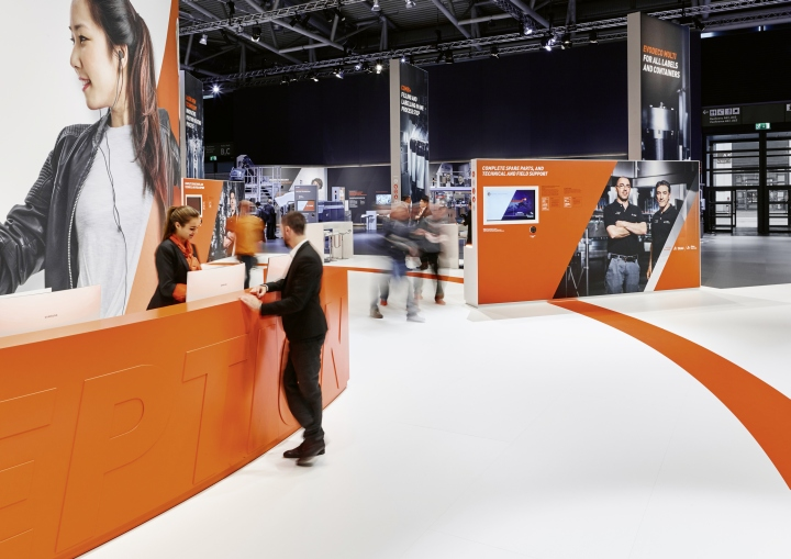 Design: Hauser Lacour Architecture: 4space GmbH. Booth Builder:  Walbert Schmitz Photography By Olaf Becker