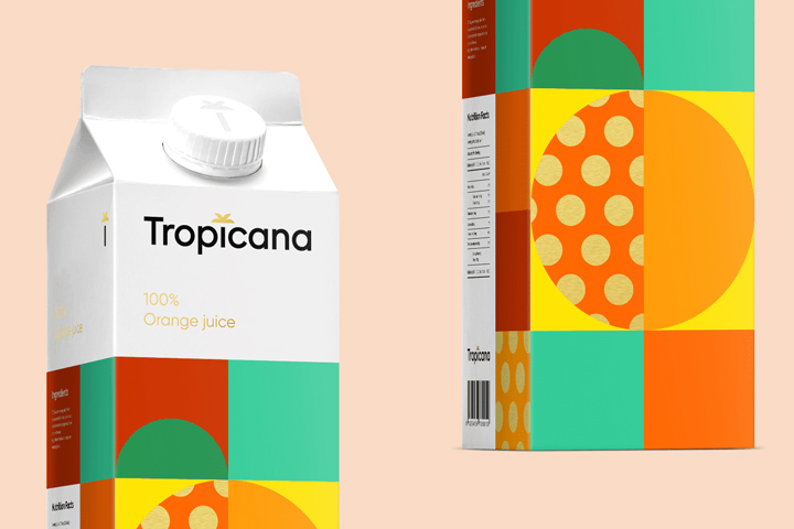 the design of tropicana juices is an attempt to make the product a little different clear geometry in the design speaks for simplicity and pedantry - Pictures Of Design