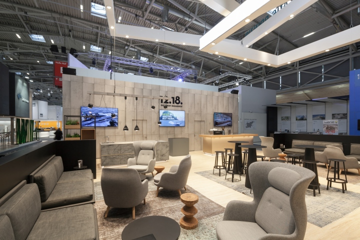 Investment management exhibition stand by kitzig for Interior design munich