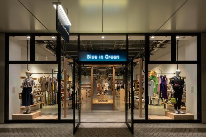 专卖店设计 | 日本广岛Blue in Green服装店设计