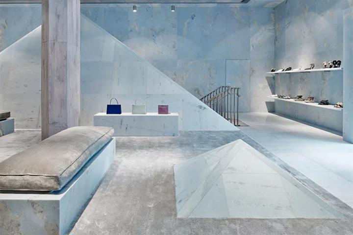 店面设计|大牌都爱莫兰迪配色,迈阿密Céline奢侈品店设计