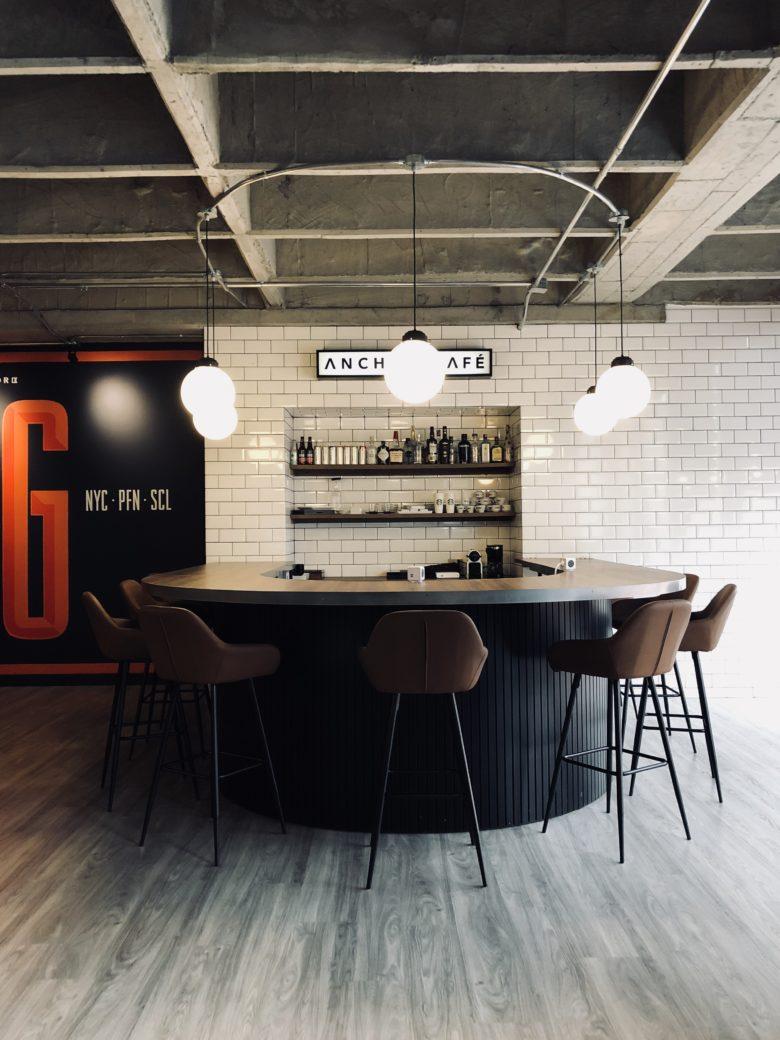 Buentipo anchor is the local office in bogotá of anchor worldwide agency the project aimed to break the rules in terms of a classic office design layout