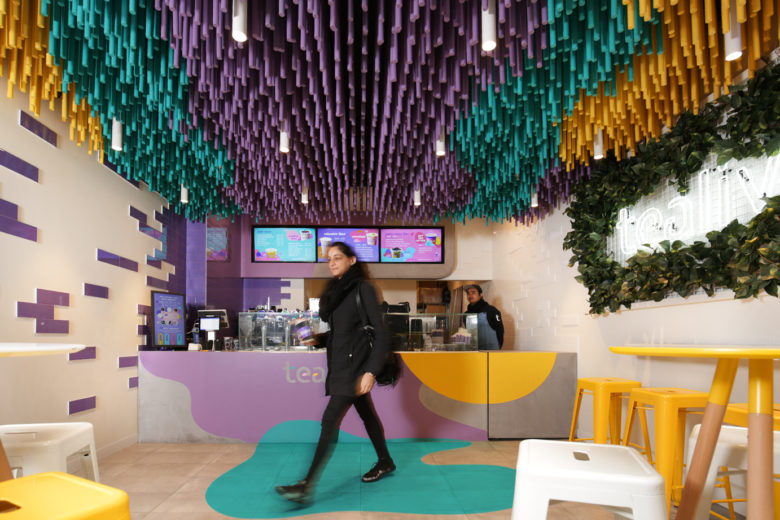 si设计|奶茶店火到澳洲了,墨尔本Tealive奶茶店设计