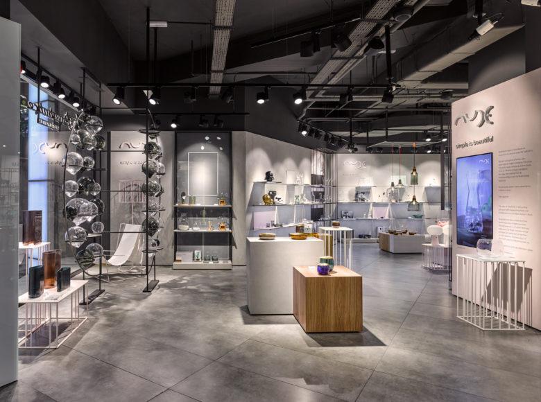 店面设计|玻璃器物之美,nude玻璃制品店面设计