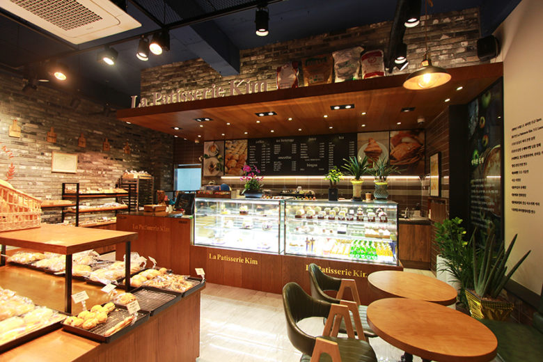 Organic bakery cafe interior by makewith design south korea