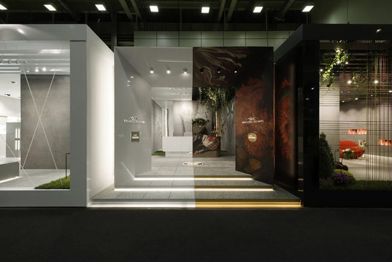 展厅设计|对立美学,法国瓷砖品牌Novoceram展厅设计