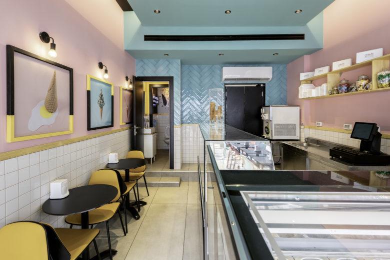 店面设计 | BARI GELATO & YOGURT饮品店设计