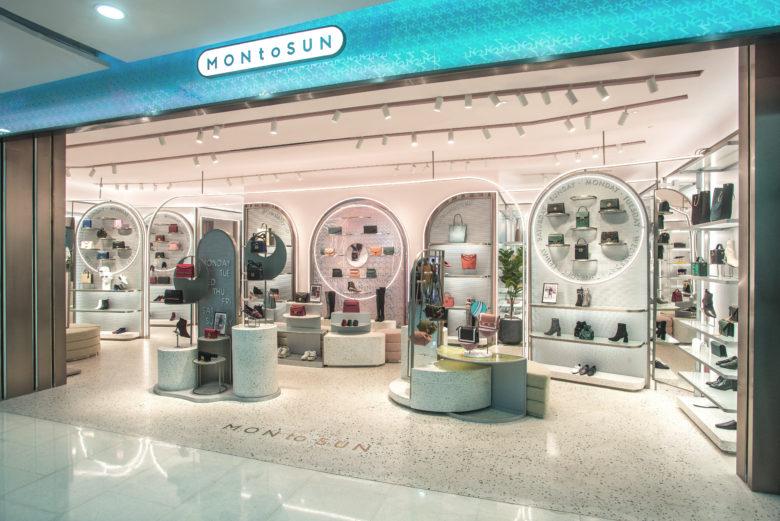 店铺设计| 深圳MON to SUN鞋包品牌概念店设计