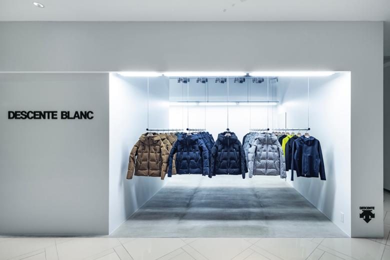 服装店设计|名古屋DESCENTE BLANC外衣品牌店面设计