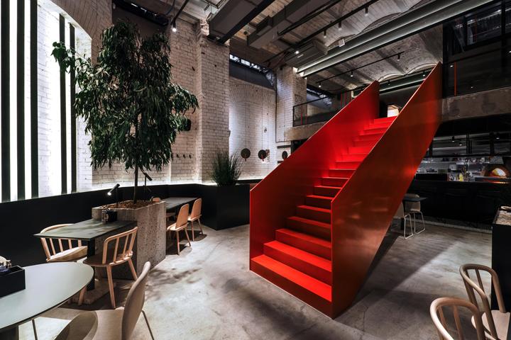 店铺设计| 莫斯科PIZZA 22餐厅设计