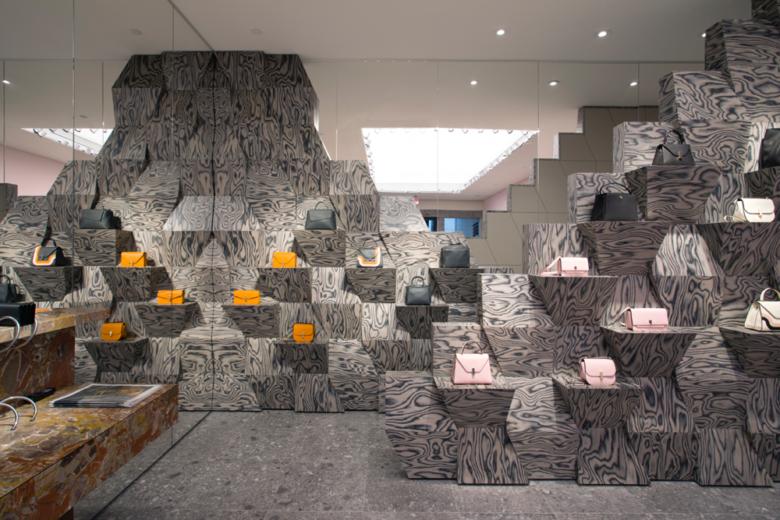 店面设计|奢侈皮包品牌Valextra迈阿密精品店设计