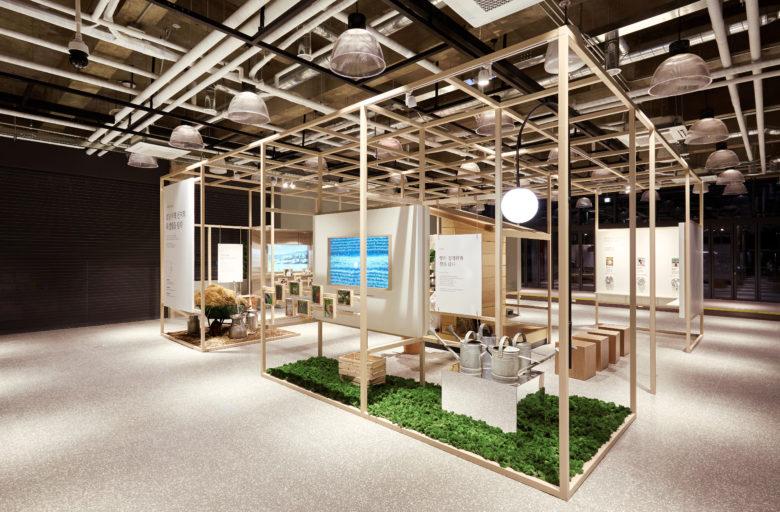 展厅设计|韩国Food Window绿色农产品展厅设计