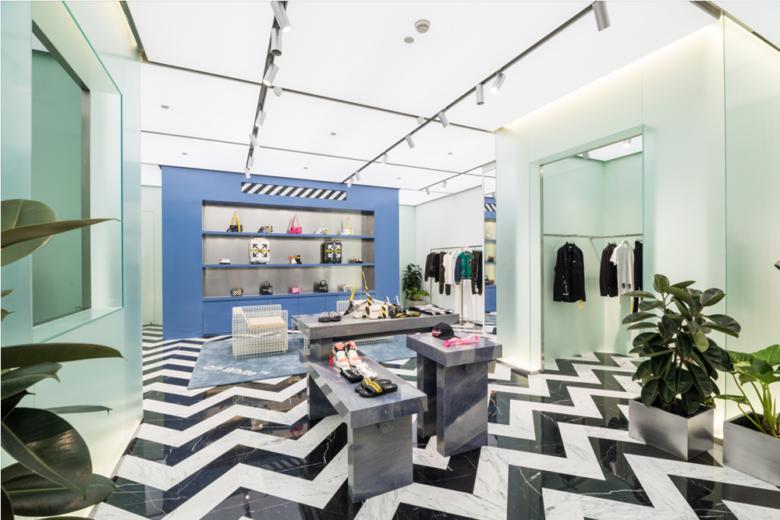 店面设计| 雅加达Off-White服装精品店设计