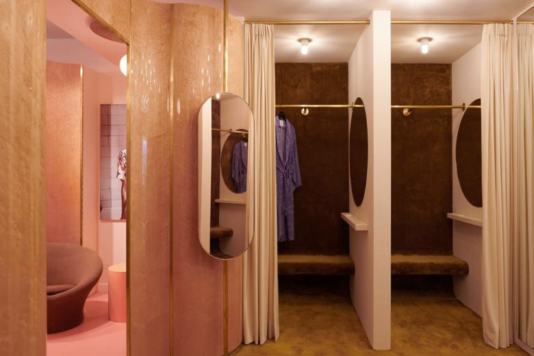 服装店设计| 用颜色表达品牌,Fabienne Chapot女装店设计